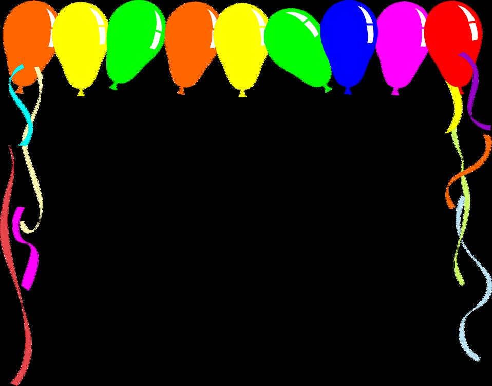 birthday borders and backgrounds ; 3060-illustration-of-a-blank-balloon-frame-pv