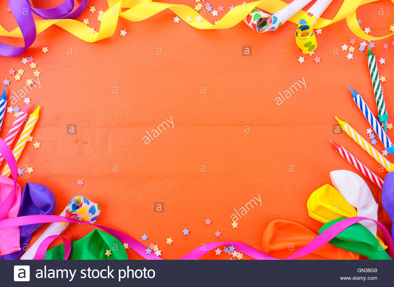 birthday borders and backgrounds ; happy-birthday-background-with-decorated-borders-with-party-decorations-GN38G9