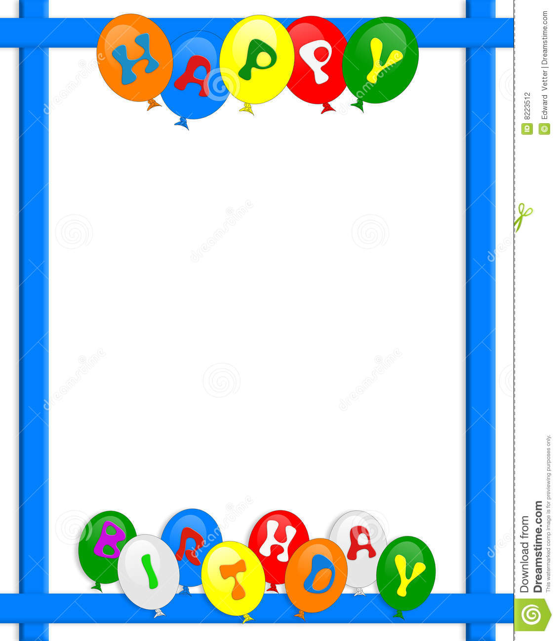 birthday borders and backgrounds ; happy-birthday-balloons-border-frame-8223512
