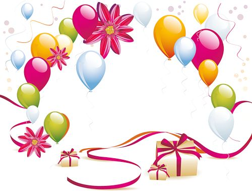 birthday borders and backgrounds ; pink-birthday-balloons-border-clipart-no-background-1