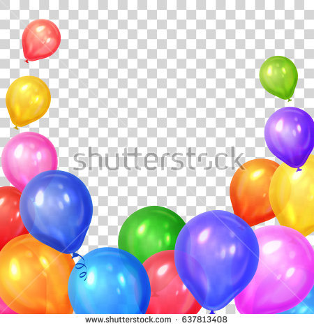 birthday borders and backgrounds ; stock-vector-border-of-realistic-colorful-helium-balloons-isolated-on-transparent-background-party-decoration-637813408