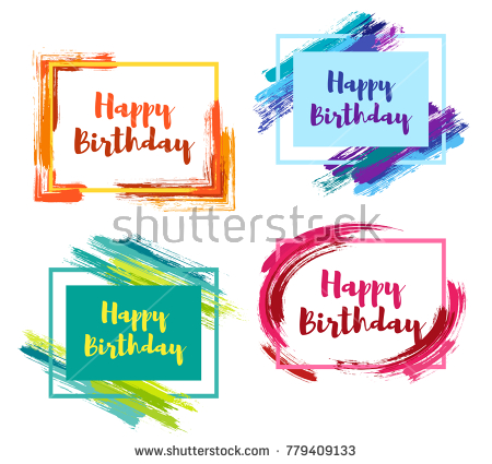 birthday borders and backgrounds ; stock-vector-happy-birthday-borders-with-pink-blue-green-yellow-painted-brushstroke-backgrounds-design-779409133