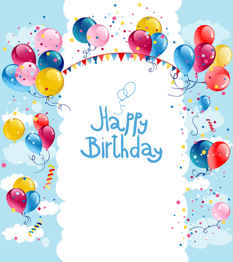 birthday borders and frames ; colored_balloon_summer_birthday_cards_vector_547579