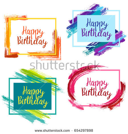 birthday borders for pictures ; stock-vector-happy-birthday-borders-with-pink-blue-and-yellow-painted-brushstroke-backgrounds-design-templates-654297898