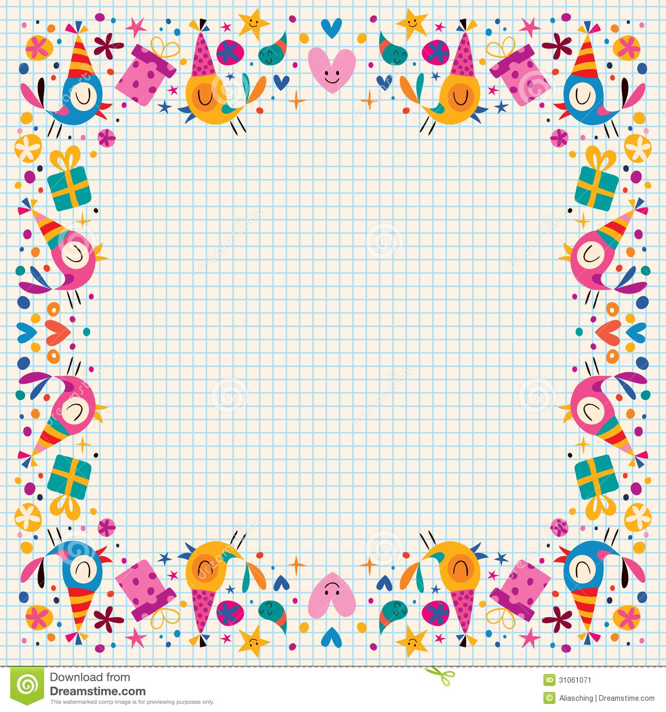 birthday borders for word ; party-clipart-border-11