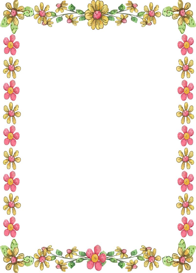 birthday borders for word documents ; flower-border-for-word-document-clipart-1