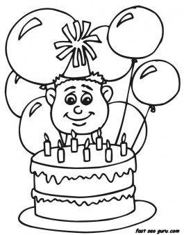 birthday boy coloring pages ; 7-years-boy-with-birthday-cake-and-balloon-coloring-pages_408107704