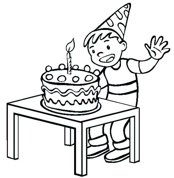 birthday boy coloring pages ; Birthday-Boy-Ready-to-Blow-the-Candle-Coloring-Pages