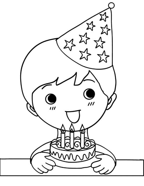 birthday boy coloring pages ; Wide-Smile-Birthday-Boy-Coloring-Pages