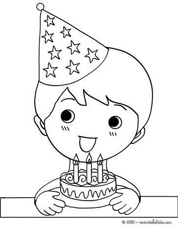 birthday boy coloring pages ; boy-blowing-the-candles-on-the-birthday-cake-kawaii-01-e9l_vgl