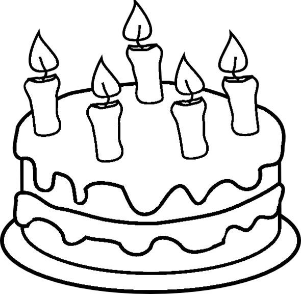 birthday cake coloring ; Birthday-cake-coloring-pages-for-kids
