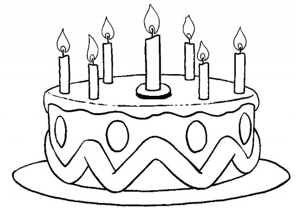 birthday cake coloring ; Elegant-Birthday-Cake-Coloring-Pages-33-For-Ree-Coloring-Pages-with-Birthday-Cake-Coloring-Pages