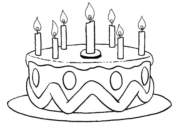 birthday cake coloring ; Picture-of-Birthday-Cake-Coloring-Pages