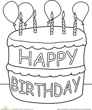 birthday cake coloring ; enchanting-birthday-cake-coloring-pages-birthday-cake-coloring-page-cakes-and-birthdays