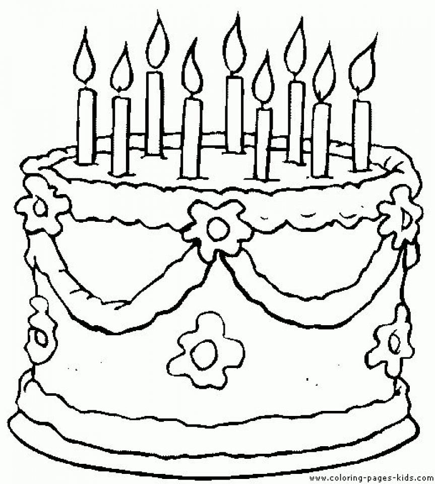 birthday cake coloring ; printable-birthday-cake-coloring-pages-87141