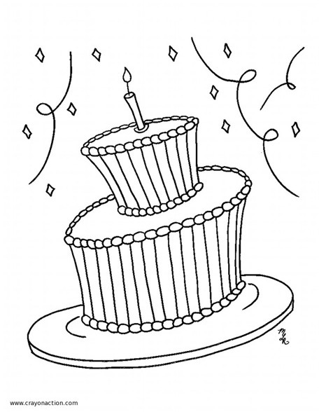 birthday cake coloring book ; Birthday_Coloring_Page_main-e1325920699896