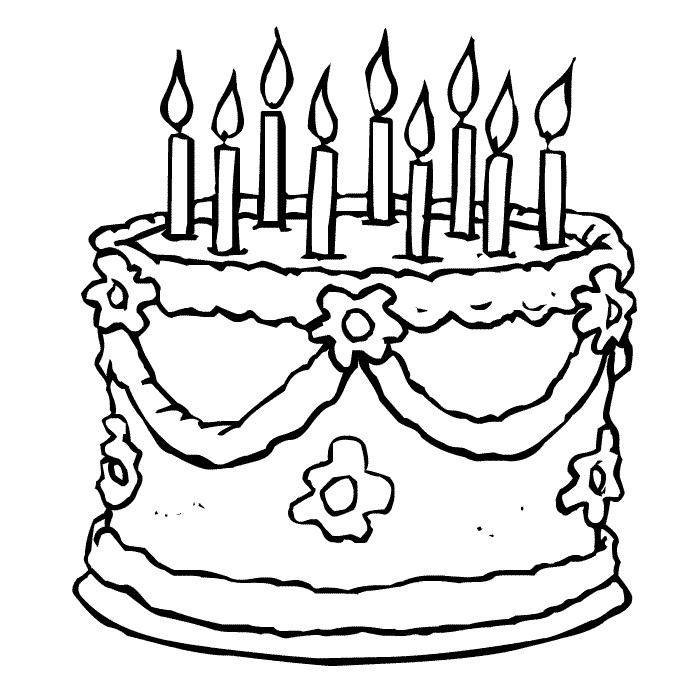 birthday cake coloring book ; Fancy-Birthday-Cake-Coloring-Page-54-For-Download-Coloring-Pages-with-Birthday-Cake-Coloring-Page