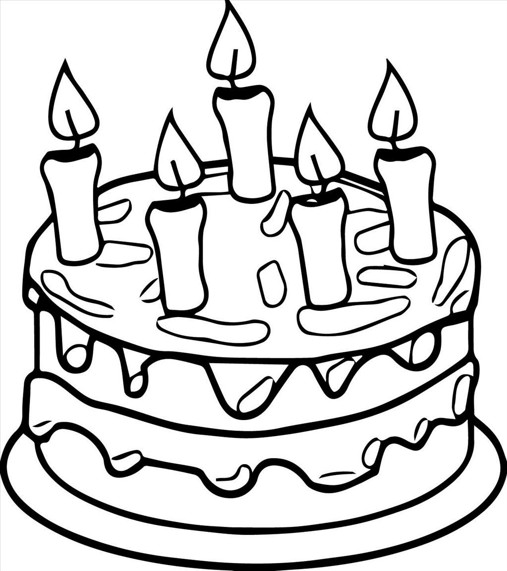birthday cake coloring book ; Good-birthday-cake-coloring-page-picture