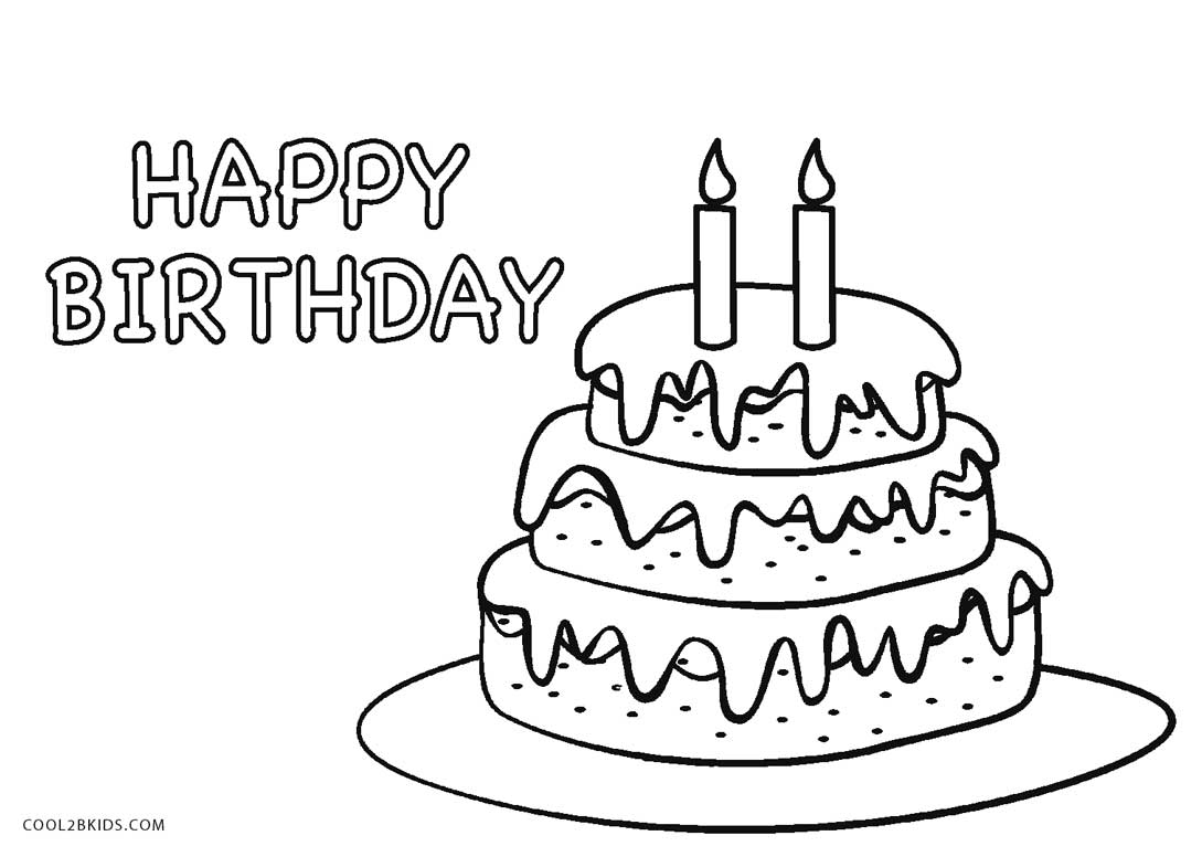 birthday cake coloring page ; Birthday-Cake-Coloring-Page