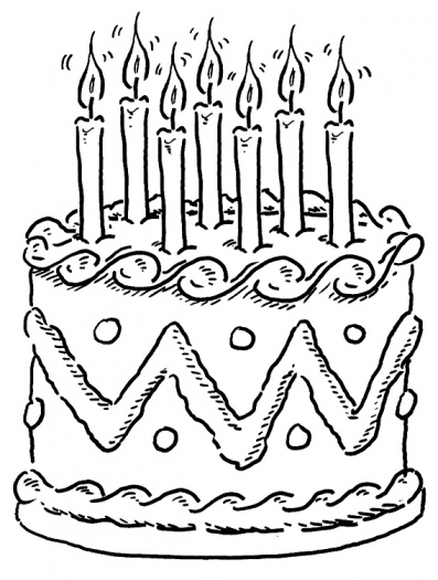 birthday cake coloring page ; Birthday-cake-coloring-pages-8