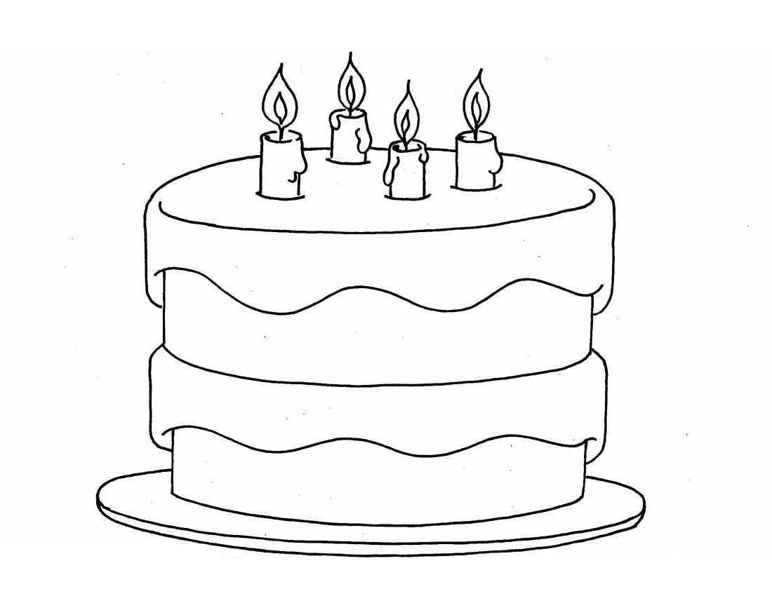 birthday cake coloring page ; Birthday-cake-coloring-pages-to-print