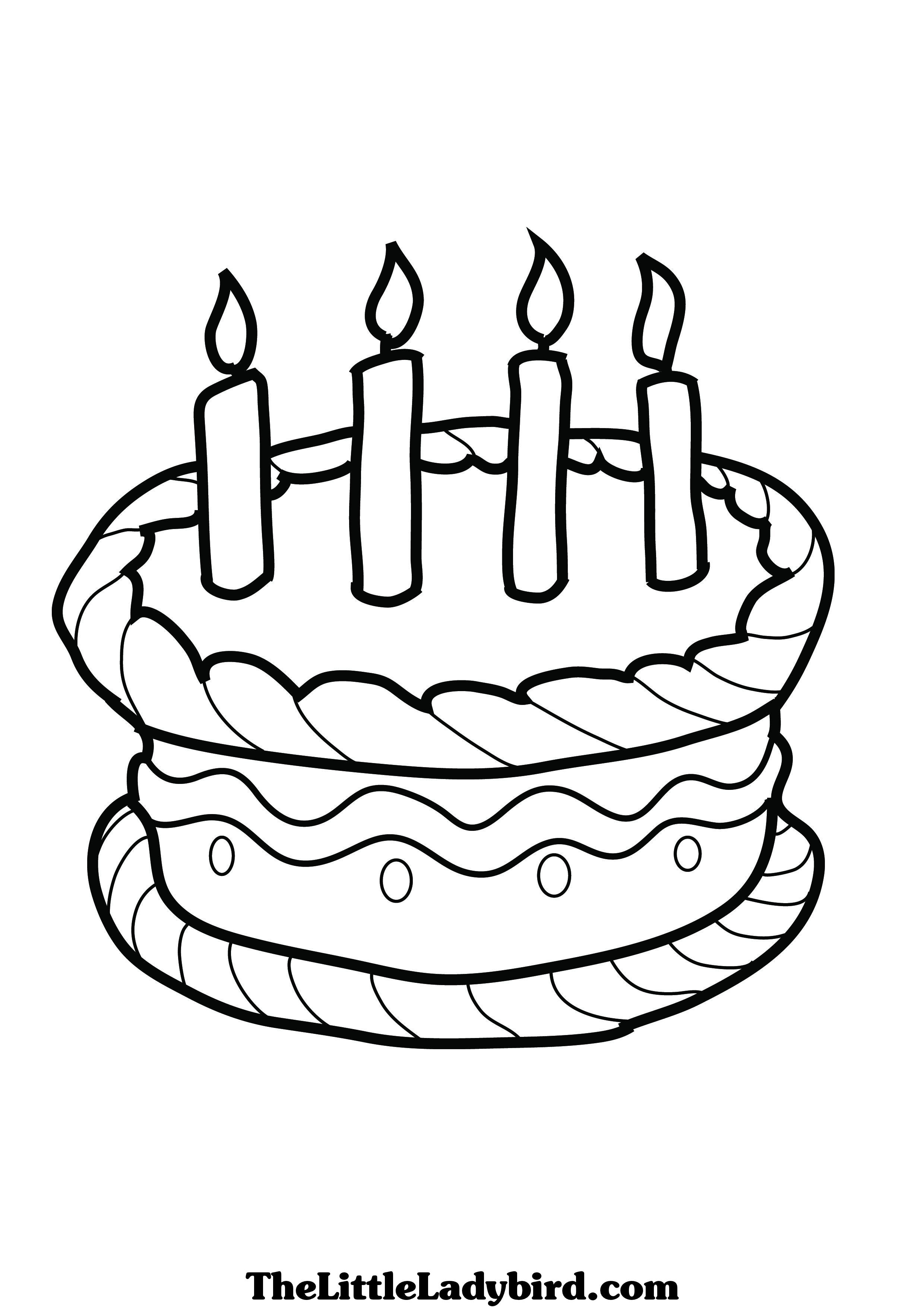 birthday cake coloring page ; Birthday_cake_coloring_pages-2