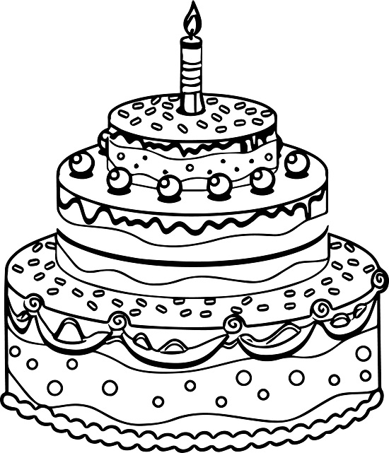 birthday cake coloring page ; Tiered-birthday-cake-coloring-pages-to-print