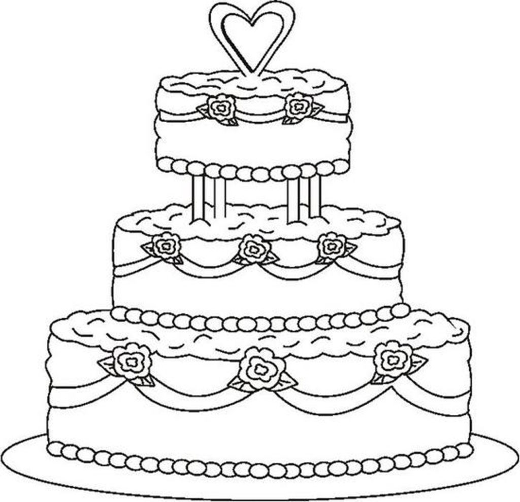 birthday cake coloring page ; birthday-cake-coloring-pages-printable-archives-within-page