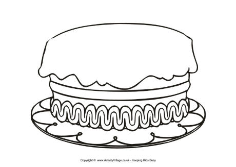 birthday cake coloring page ; birthday_cake_colouring_page_large_460_0