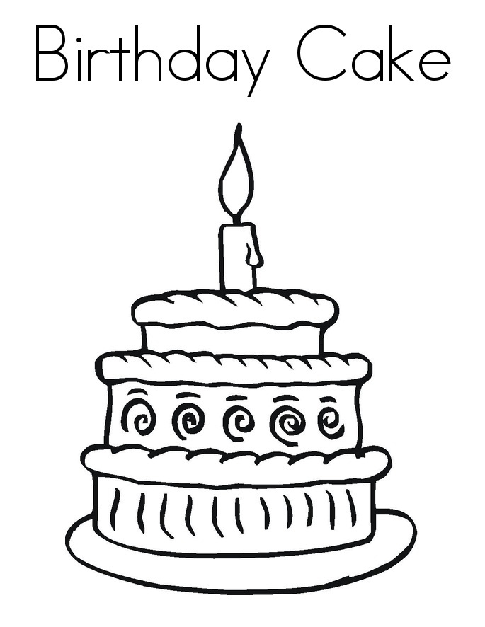 birthday cake coloring page free printable ; Birthday-Cake-Coloring-Page