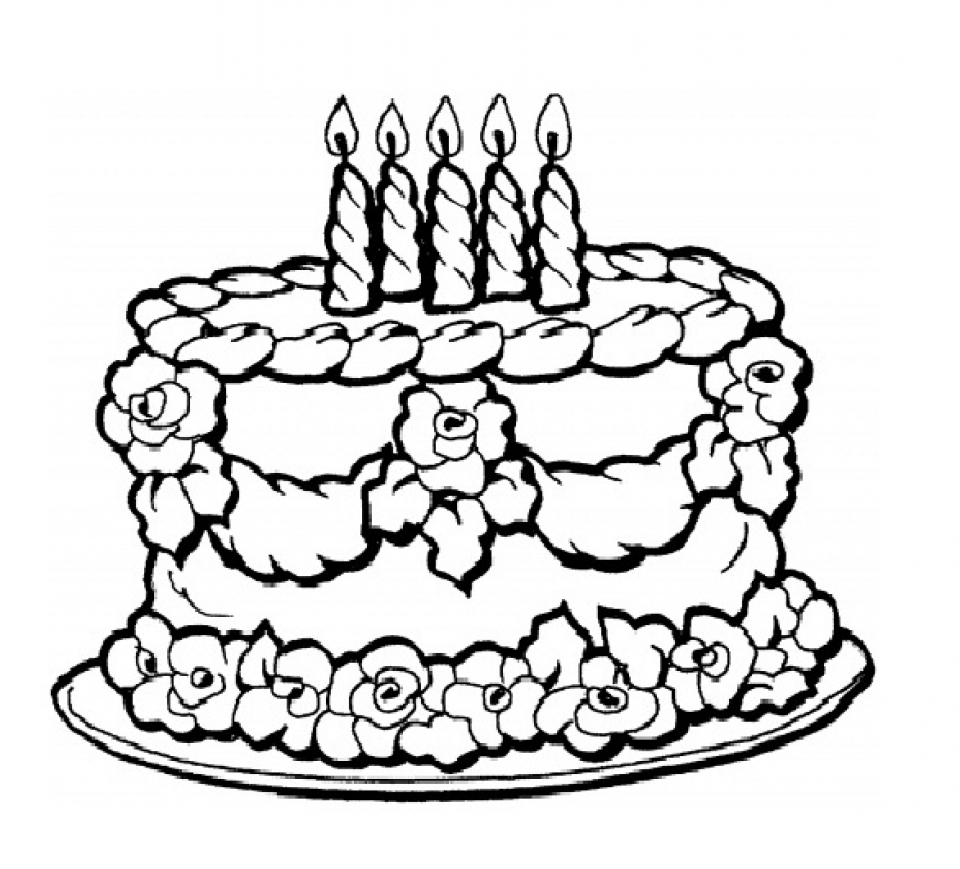 birthday cake coloring page free printable ; birthday-cake-coloring-pages-free-printable-9466