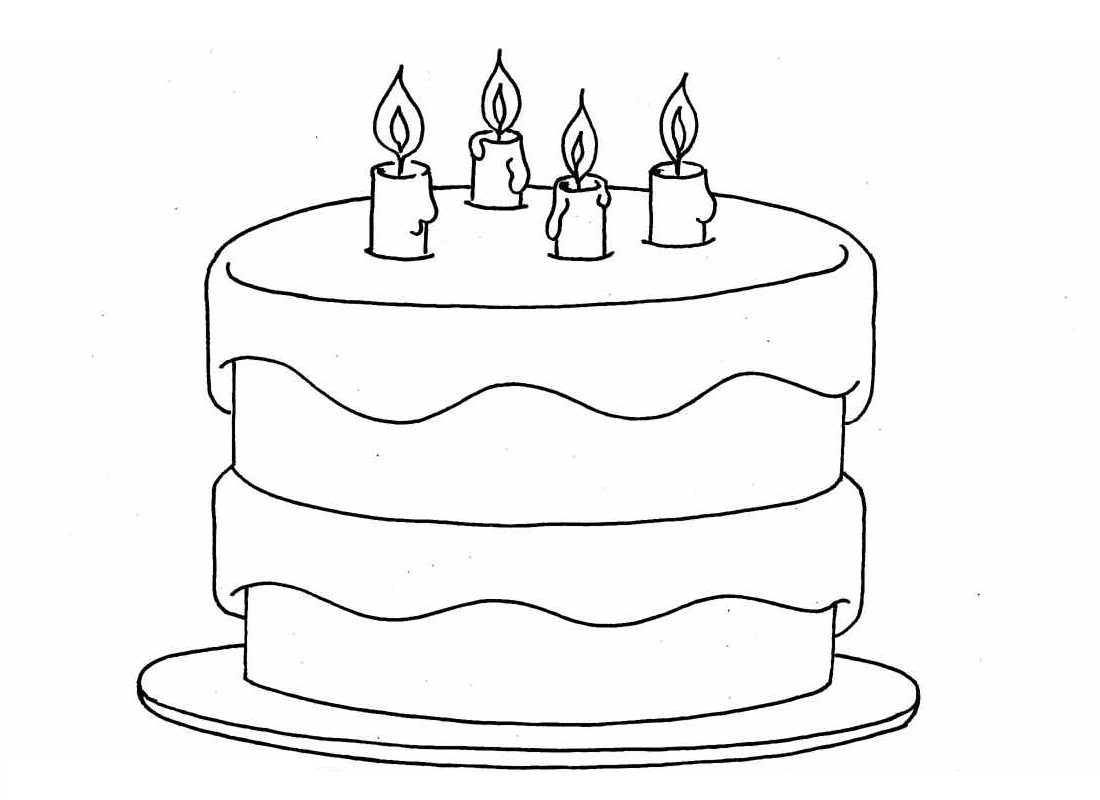birthday cake coloring page free printable ; birthday-cake-coloring-pages-to-print-1100x800