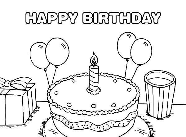 birthday cake coloring pages for kids ; Birthday-Cake-Coloring-Pages-for-Kids-600x441
