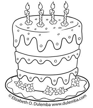 birthday cake coloring pages for kids ; BirthdayCake-med