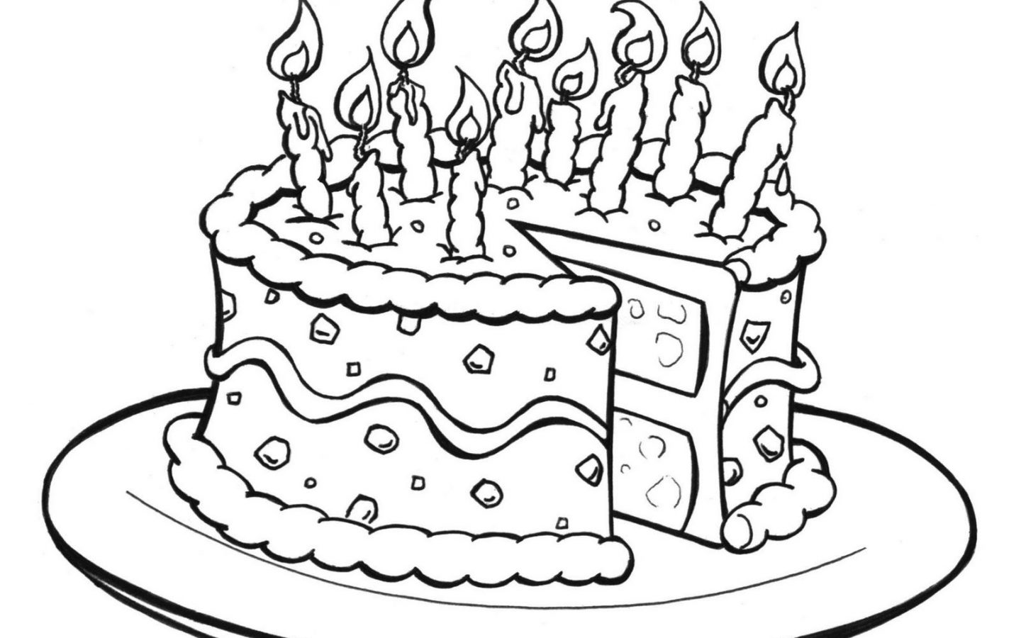 birthday cake coloring pages free ; amazing-birthday-cake-coloring-pages-printable-for-1440x900
