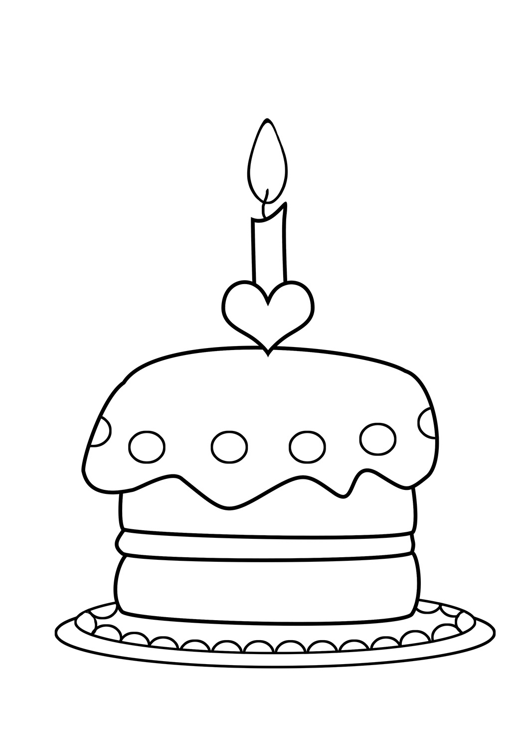 birthday cake coloring pages free ; birthday-coloring