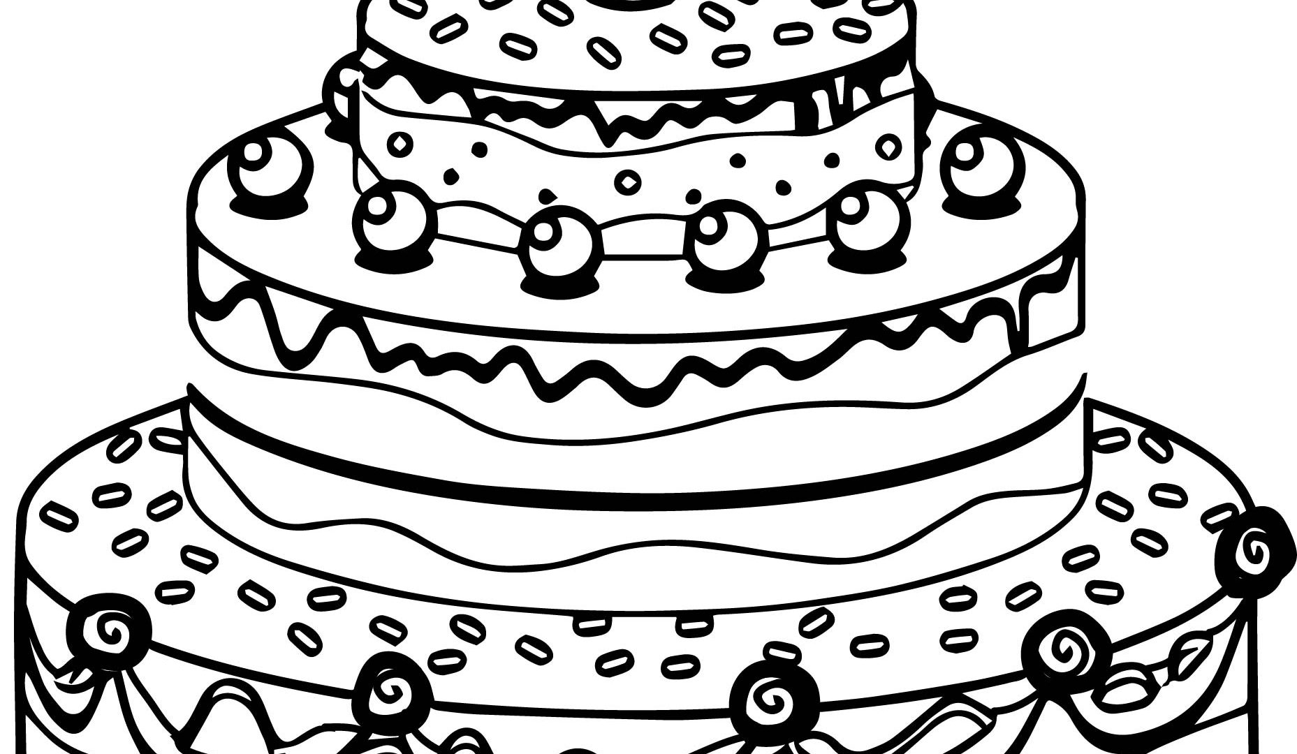 birthday cake coloring pages preschool ; cute-birthday-cake-coloring-page-1857x1080