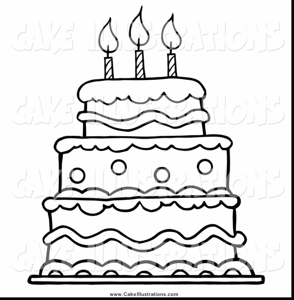 birthday cake coloring pages preschool ; remarkable-black-and-white-birthday-cake-clip-art-with-cake-coloring-pages-and-birthday-cake-coloring-pages-preschool