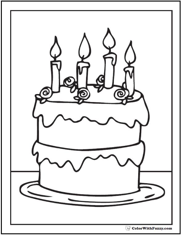 birthday cake coloring printable ; birthday-cake-coloring-printable