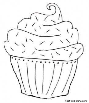 birthday cake coloring printable ; printable-blueberry-muffin-birthday-cake-coloring-page_1152995156