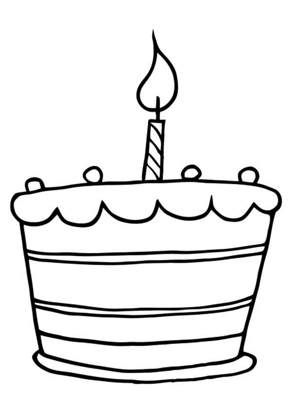 birthday cake coloring sheet ; Birthday-cake-coloring-pages-for-preschooler