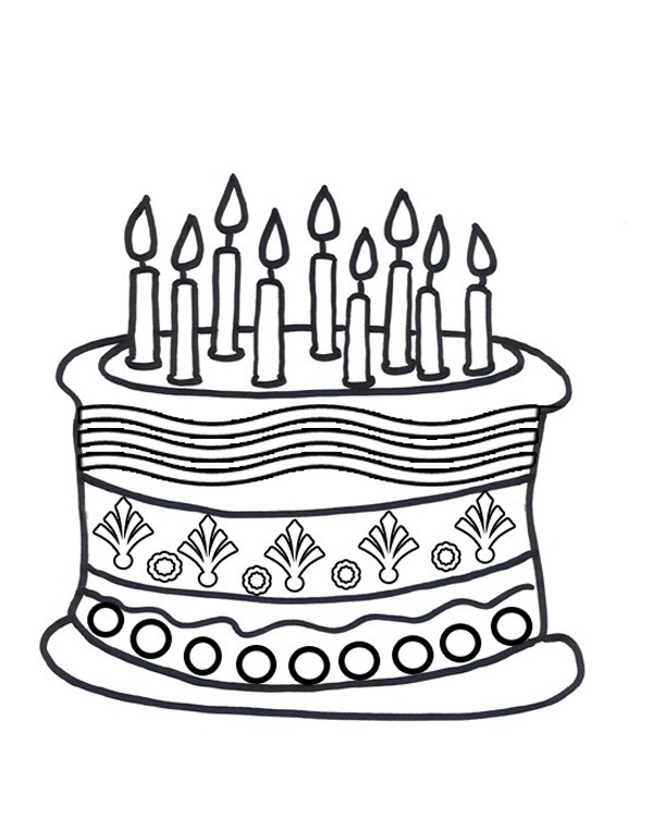 birthday cake coloring sheet ; Unique-Birthday-Cake-Coloring-Pages-46-About-Remodel-Gallery-Coloring-Ideas-with-Birthday-Cake-Coloring-Pages