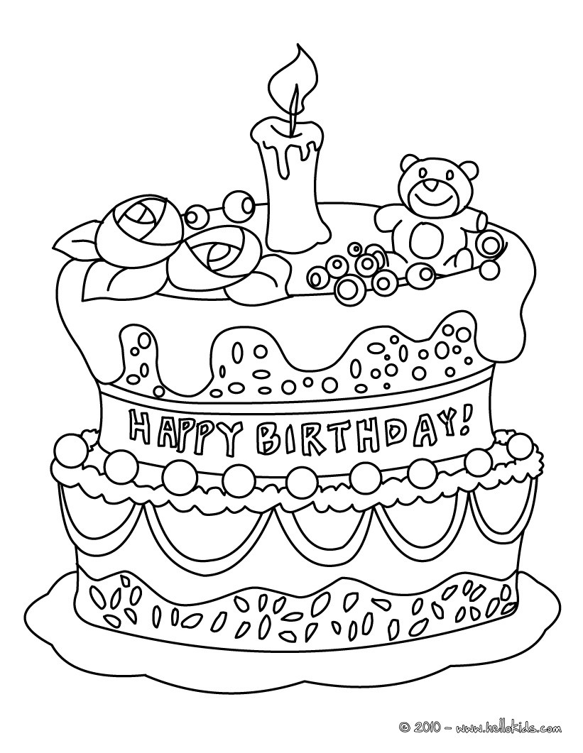 birthday cake coloring sheet ; birthday-cake-coloring-pages-birthday-page