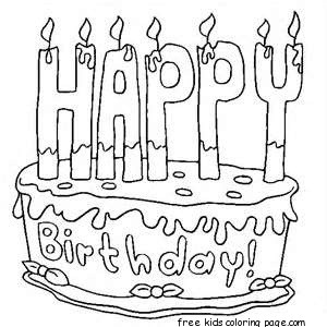 birthday cake coloring sheets free ; Printable-Happy-birthday-cake-coloring-pages
