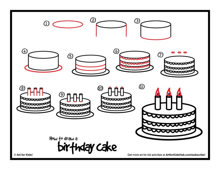 birthday cake drawing for kids ; 9a10148ec9942e4f46648cae9799bd5a