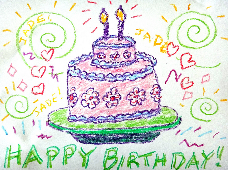birthday cake drawing for kids ; birthdaycake