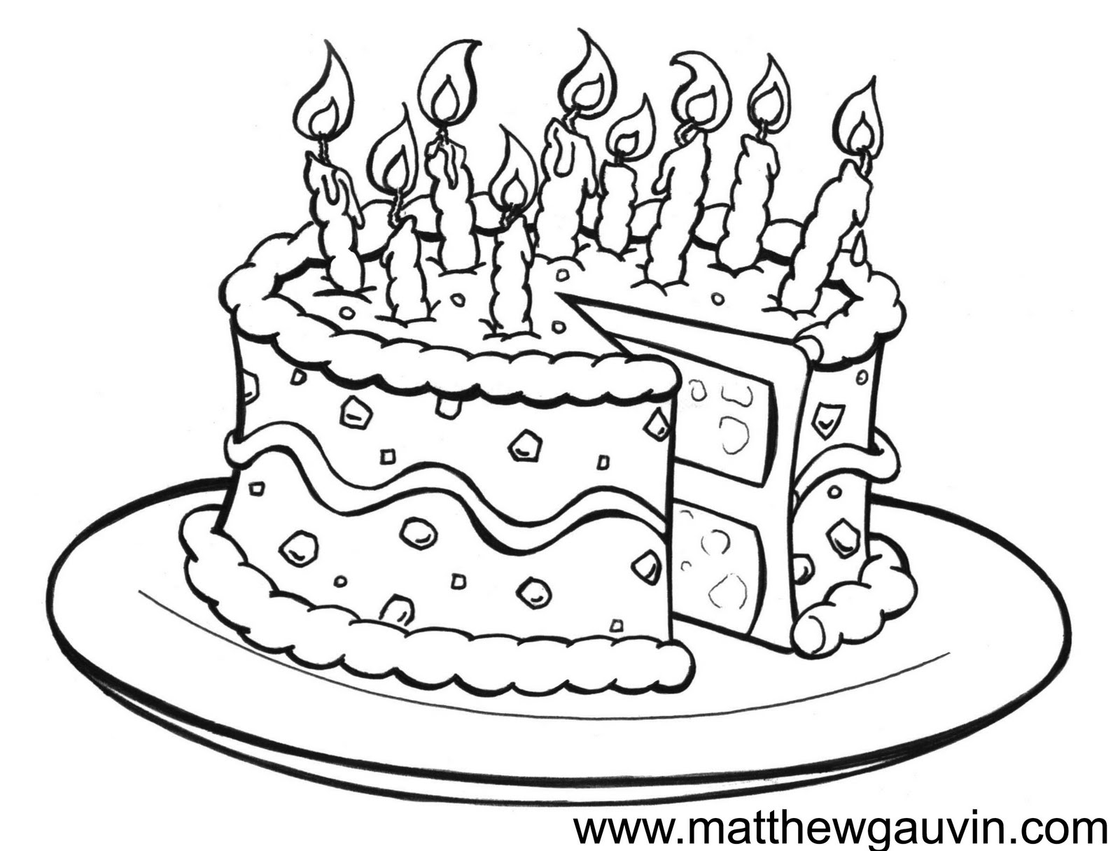 birthday cake drawing for kids ; drawn-wedding-cake-pencil-drawing-8