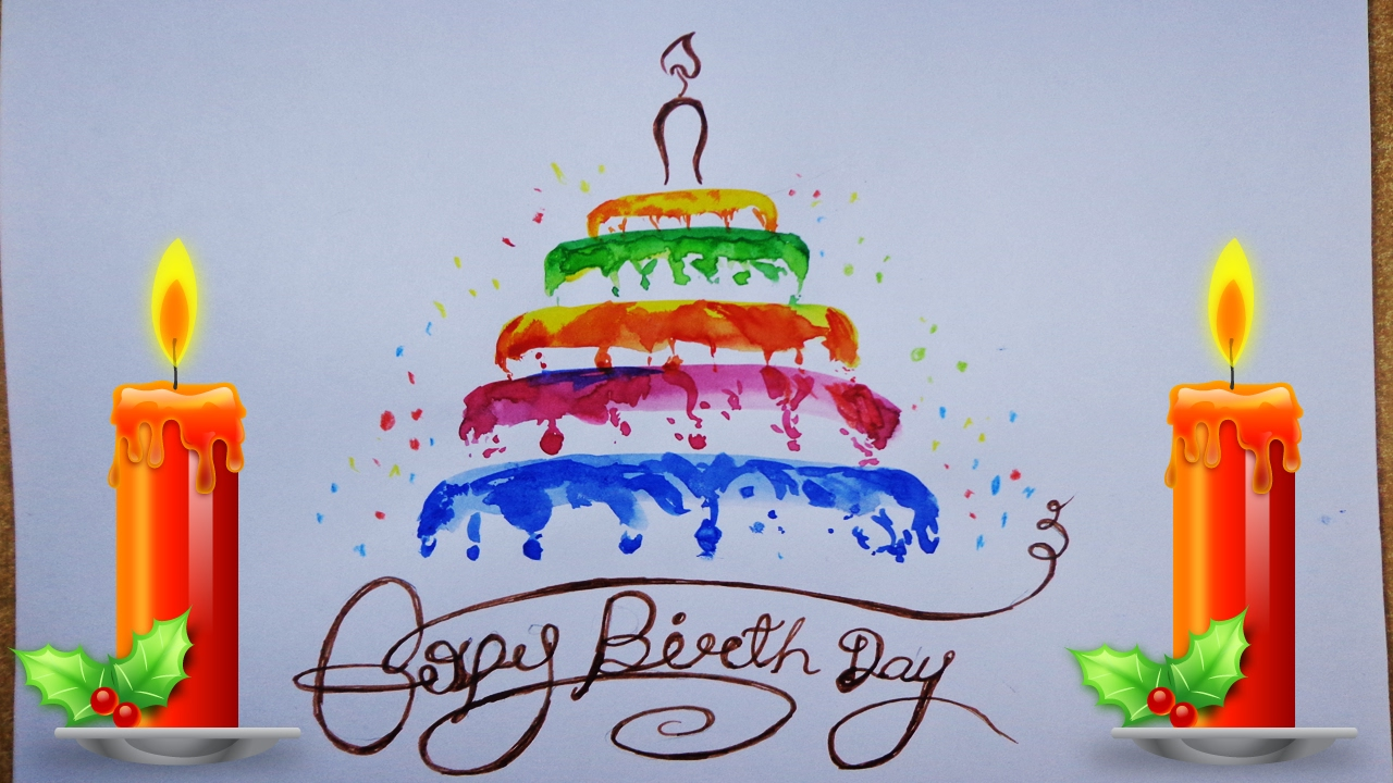 birthday cake drawing images ; maxresdefault