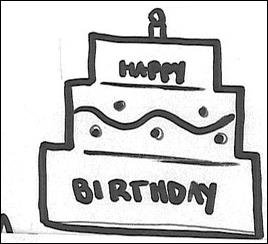 birthday cake drawing step by step ; 1323914477