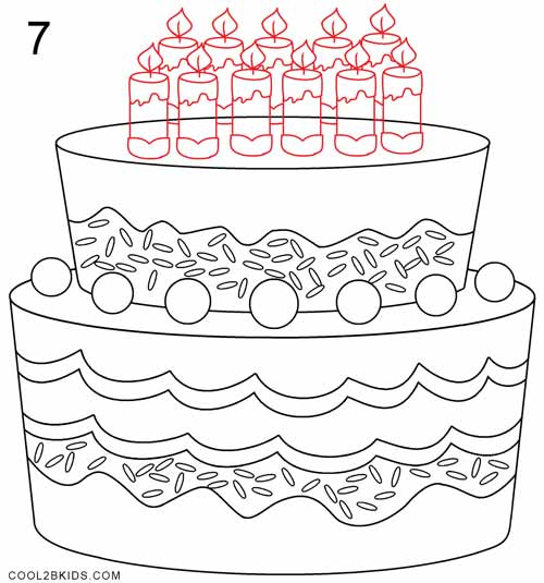 birthday cake drawing step by step ; How-to-Draw-a-Birthday-Cake-Step-7
